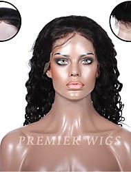 Premierwigs 8''-24''Water Wave Brazilian Virgin Full Lace Human Hair Wigs Silk Base Lace Front Wigs For Black Women