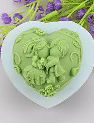 Children And  Kiss Shaped Soap Molds Mooncake Mould Fondant Cake Chocolate Silicone Mold, Decoration Tools Bakeware