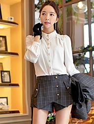 Pink Doll®Women's Casual OL Asymmetrical Check Shorts Pants