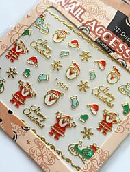 3D Gilding Christmas Series Father Christmas Nail Art Stickers