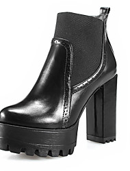 Women's Shoes Patent  Chunky Heel Round Toe/Closed Toe Boots