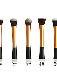 Powder Blush Blusher Foundation Contour Makeup Brushes Set Cosmetic Tool(Golden)