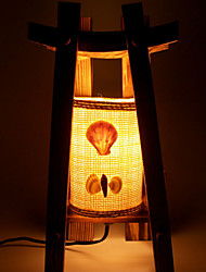 Vintage Wooden Table Lamp Creative Home Decoration Classic Romantic Bedroom Bedside Lamp