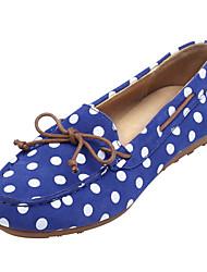 LUSHINAN®Women's Shoes Upper Materials Falt Heel Super Light Bottom Bow Shoes