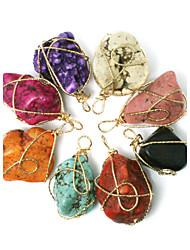 Beadia 1Pc Turquoise Stone Pendants Irregularity Shape DIY Jewelry Pendants For Women Necklace(Dyed Colors)
