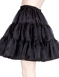 Black/Red/White/Pink Petticoat TUTU Underskirt Crinoline Bridal Wedding Dress Skirt