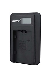 Camera Battery Charger with Screen for PentaxDU07 Black