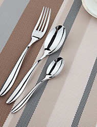 Dongjin®Elegance 6pcs Set Table Spoon*2+Table Fork*2+Tea Spoon*2 with 18/10 Imported Stainless Steel
