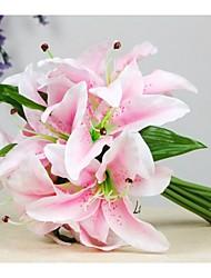 лилии руки палку цветок полноценно шелковая ткань (случайный цвет)