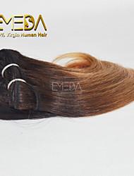 neue 3pcs / set ombre menschlichen reinen kurze Haare weben nassen wellig ombre 2 Klangfarbe # 27.04 8inch 6 Farben availabe