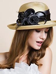 Mulheres Poliéster Capacete-Casamento Ocasião Especial Ao ar Livre Chapéus 1 Peça