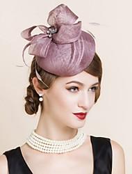 Mulheres Linho Capacete-Casamento Ocasião Especial Chapéus 1 Peça