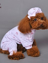 Dog / Cat Pajamas Blue / Pink / Yellow Winter / Spring/Fall Animal Wedding / Cosplay