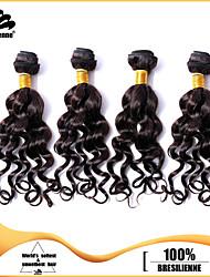 4pcs Brazilian Dark Brown Hair Bundles Weaves Natural Black 100% Unprocessed Brazilian Human Hair Weft