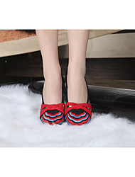 Women's Shoes Old Peking Flat Heel Canvas Flats with Full Embroidery Casual Shoes