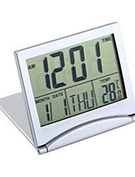 Folding LCD Digital Calendar Alarm Clock with Thermometer