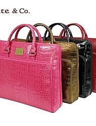 Kate & Co.® Women PVC Laptop Bag Pink / Gold / Black - TH-01565