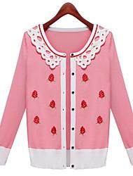Women's Patchwork Blue / Pink Shirt , Off Shoulder Long Sleeve