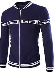 Men's Slim Stand Collar Jacket Navy Blue