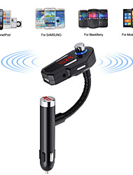 Wireless Car Stereo Bluetooth V4.0 FM Transmitter Radio Adapter Handsfree Car Kit with Hands-Free Calling