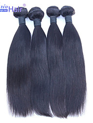 Factory Sale 4PCS LOT Brazilian Virgin Human Hair Weave Straight Hair Extensions,