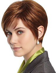New Fashion Lady Popular High Temperature Wire Short Brown Wig  Can Be Very Hot Can Be Dyed Color Picture