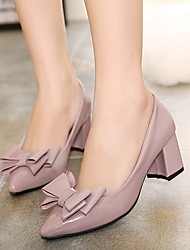 Women's Shoes Chunky Heel Round Toe Heels Casual Black / Purple