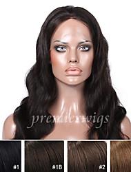 Premierwigs de qualité 8a 8 '' - 24 '' de perruques indiennes soie de dentelle de vague de base de corps de Remy avant avec des cheveux de