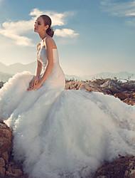 Trumpet/Mermaid Wedding Dress - White Court Train Sweetheart Lace
