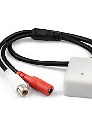 dearroad baixo ruído de áudio da câmera de segurança de alta sensibilidade de captação