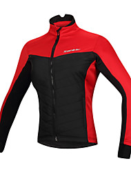 SANTIC® Cycling Jacket Women's Long Sleeve Windproof / Reflective Strips Bike Tops Cotton / 100% Polyester Fall/Autumn / WinterCamping /