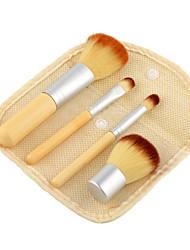 4.0ensembles de brosses / Pinceau à Blush / Pinceau Fard à Paupières / Pinceau Correcteur / Pinceau Poudre / Pinceau Fond de Teint /