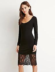 Women's Patchwork Lace  Bodycon Dress