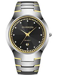 GUANQIN® Men Japanese Quartz Watch Diamond 100m Waterproof Calendar Sapphire Crystal Tungsten Steel Watch Wrist Watch Cool Watch With Watch Box