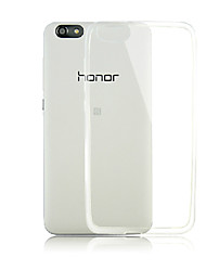Для Кейс для Huawei Прозрачный Кейс для Задняя крышка Кейс для Один цвет Мягкий TPU Huawei Huawei Honor 4X