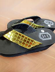 DamenOutddor-PVC-Flacher Absatz-Flip - Flops-Schwarz / Gelb / Rot / Weiß