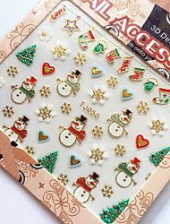 3D Gilding Christmas Series Christmas Stocking Nail Art Stickers