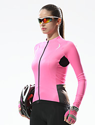 Santic Women's Long Sleeve Cycling Jersey Warm Keeping Cycling Jersey