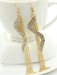Earring Drop Earrings Jewelry Women Alloy / Cubic Zirconia / Gold Plated 2pcs Gold