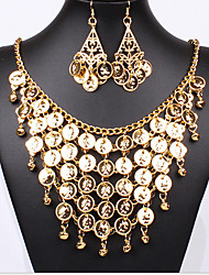 MPL European and American Bride Ruili multilayer Necklace Earrings Set