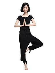 SHUYA® Yoga Clothing Sets/Suits Yoga Pants + Yoga Tops Lightweight Materials Stretchy Sports WearYoga / Pilates / Fitness / Leisure
