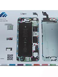 esteira magnética parafuso reparo técnico de guia de almofada para iphone 6 mais