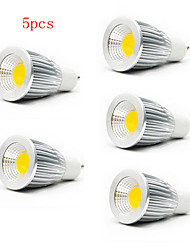 5pcs HRY® 7W GU10/E27/GU5.3 550LM Warm/Cool White Light LED COB Spot Lights(85-265V)