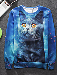 Women's High Quality Creative Lovely Animal Pattern Stereo Fashion Personality 3D Sweater —— Bule Cat