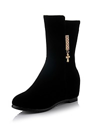 Women's Shoes  Wedge Heel Wedges/Round Toe Boots Casual Black