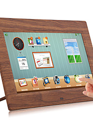 Touch LCD Wooden Wi-Fi Cloud Digital Photo Frame FotoConnect XD with Email/Online Providers/iPhone & Android App