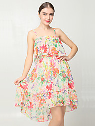 Women's Print   Dress(chiffon)