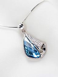 925 Sterling Silver CZ Stone Necklace Women Fashion Jewelry