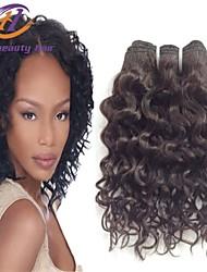1Pcs/Lot 10inch Brazilian Virgin Hair Water Wave Black Color 100% Human Hair Unprocessed Human Hair Weaves