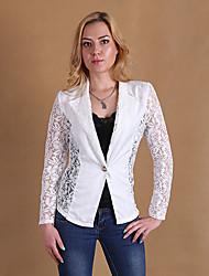 Women's Long Sleeve Blazer , Lace Short Vintage/Casual